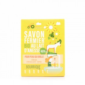 Savon au lait d'ânesse 40% Citron citron vert ortie Bourrique 100g