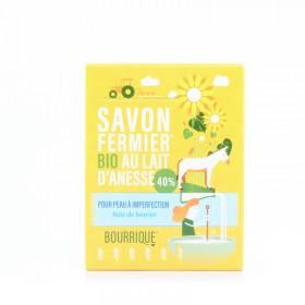 Savon au lait d'ânesse 40% baie de laurier Bourrique 100g