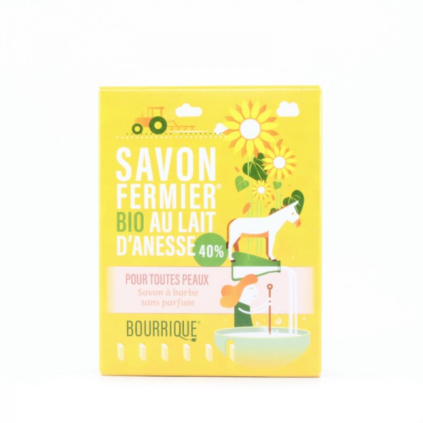 Savon de rasage au lait d'ânesse 40 % Bourrique 100g