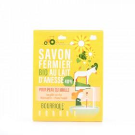 Savon au lait d'ânesse 40% argile verte patchouli romarin Bourrique 100g