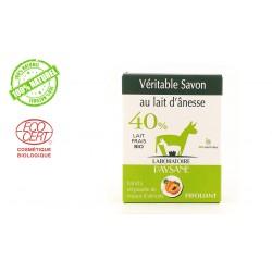 Savon au lait d'ânesse 40 % exfoliant  laboratoire paysane
